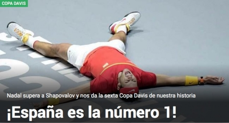Tidningen Marca firar segern på sin hemsida.