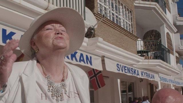Foto av Per-Anders Rudelius som bland annat filmat i Svenska kyrkans lokaler i Fuengirola.