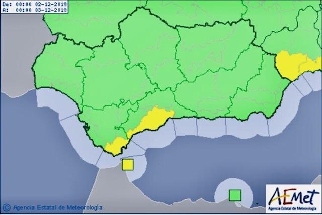 Regnvarningen gäller mellan klockan 03.00 och 18.00 på måndagen.