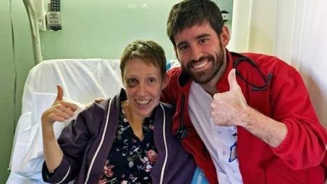 Spanska sjukvårdare lyckades återuppliva Audrey Mash, efter att hon drabbats av hjärtstillestånd i en snöstorm. Foto: Privat