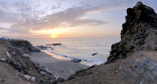 Kroppen hittades vid niotiden på onsdagsmorgonen vid stranden Peñón del Cura. ARKIVBILD