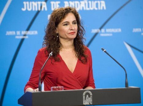 Det var skatteministern María Jesús Montero själv som ansvarade för Andalusiens budget fram till och med maj 2018. Foto: Junta de Andalucía