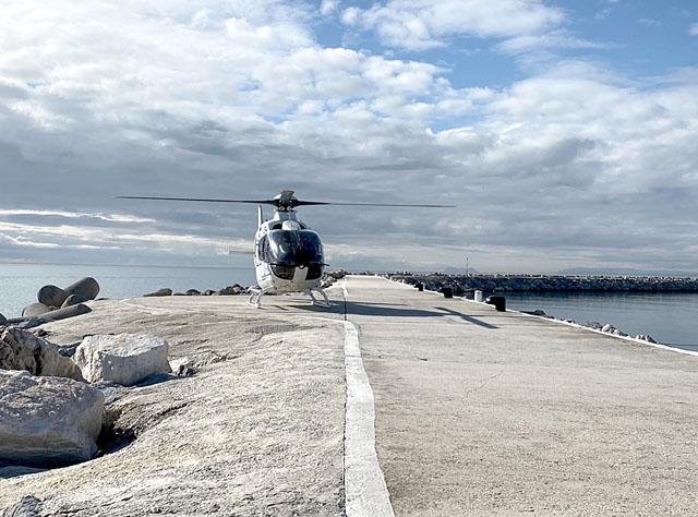 Heliair har fått ett unikt tillstånd att bruka plattan vid lyxhamnen Puerto Banús, i Marbella. Foto: Privat