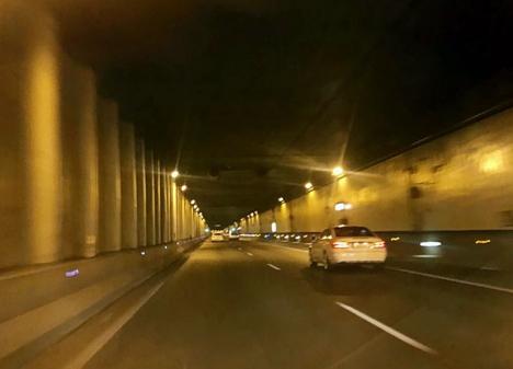 Det är inte första gången som en förare gjort en vansinnesfärd genom San Pedro-tunneln. ARKIVBILD