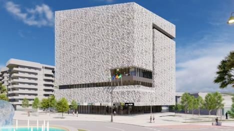 Skiss av det framtida rådhuset i Estepona. Foto: Ayto de Estepona