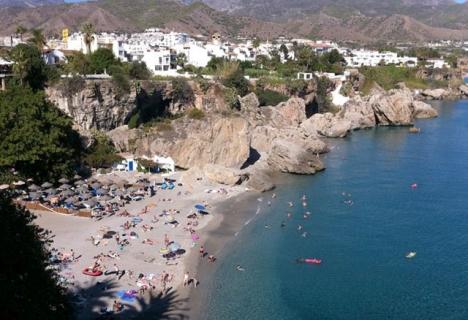 Playa Calahonda, i Nerja.