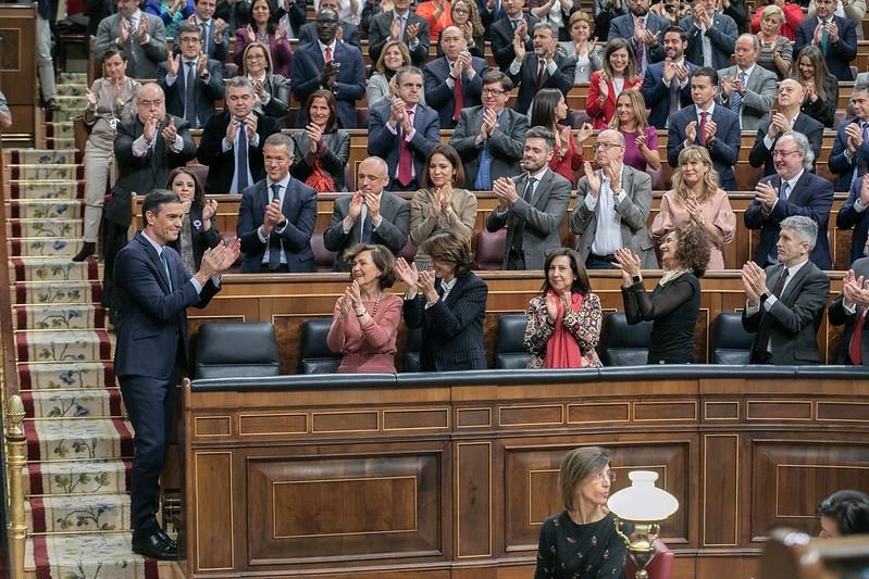 Pedro Sánchez har förlorat fem utnämningsomröstningar i parlamentet sedan 2016, men 7 januari blev det sjätte gången gillt. Foto: PSOE