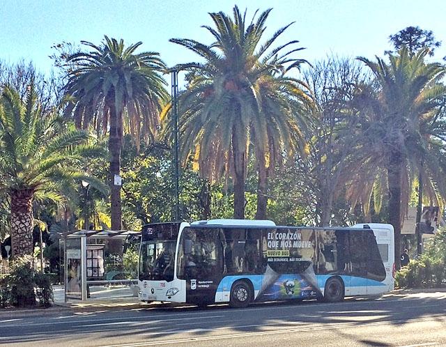Den första förarlösa lokalbussen i Málaga väntas sättas i trafik till våren.