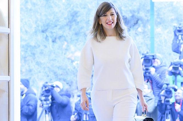 Arbetsmarknadsministern Yolanda Díaz.