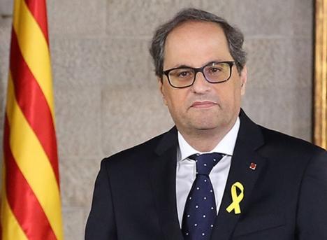 Regionalpresidenten i Katalonien Quim Torra har varslat om nyval för att föregå sin väntade avsättning. Foto: Generalitat de Catalunya