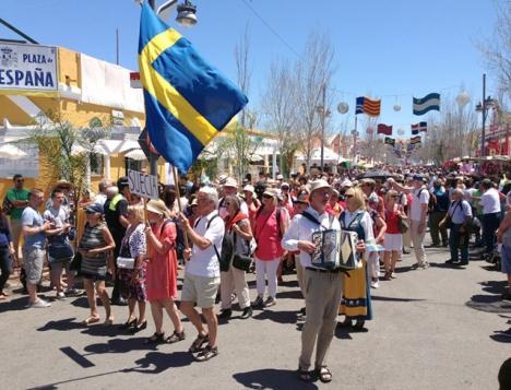 Med undantag av 2015 har Sverige inte haft en caseta på Feria de los Pueblos de senaste elva åren.