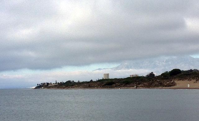 Ett tjockt dimtäcke ligger för andra dagen i rad över stora delar av Costa del Sol. ARKIVBILD