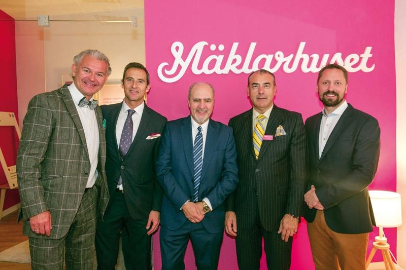 Ägarna till det nya kontoret i Madrid Andreas Strindholm (t.v.) och Michael Montin (t.h.) driver även Mäklarhuset i Marbella.
