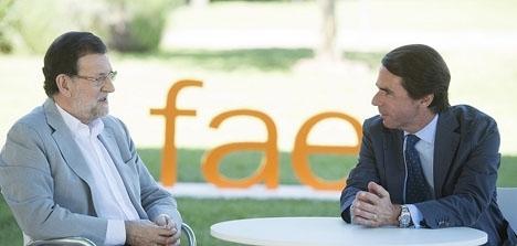 Mariano Rajoy har redan tvingats vittna i en tidigare rättegång, men det är första gången som José María Aznar blir utfrågad om Partido Populars svarta räkenskaper. Foto: PP
