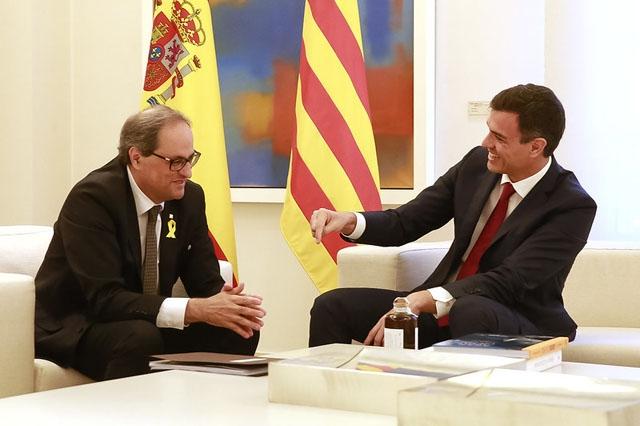 Samtalen är ett av grundvillkoren som katalanska ERC ställt för att möjliggöra den nuvarande vänsterregeringen i Spanien.