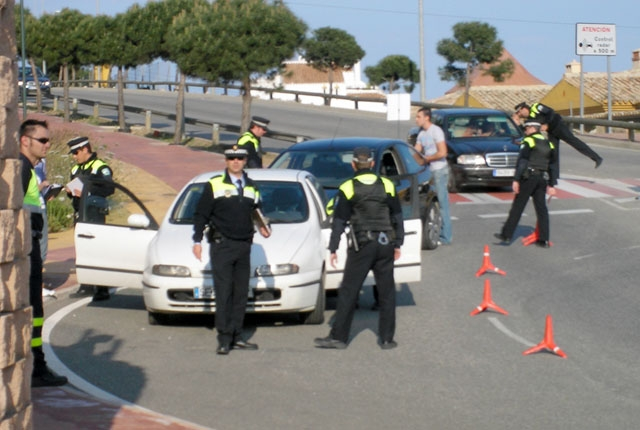 Lokalpoliser i Benalmádena. ARKIVBILD