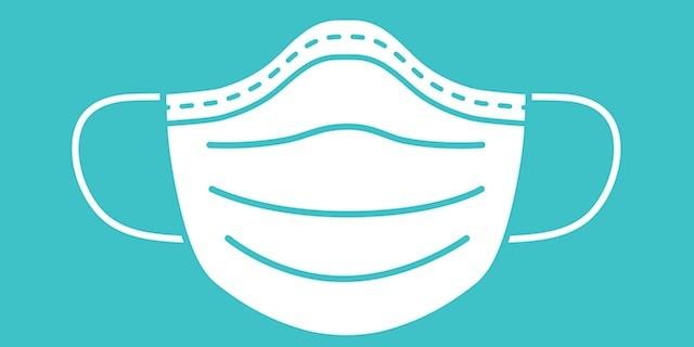 Bruket av ansiktsmask rekommenderas endast om man bekräftas eller misstänks vara smittad och fungerar sålunda ej som skydd mot att bli smittad.