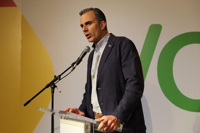 Vox generalsekretare Javier Ortega-Smith kan ha smittat ett stort antal partimedlemmar vid kongressen i helgen i Vistaalegre. Foto: Derechaunion/Wikimedia Commons