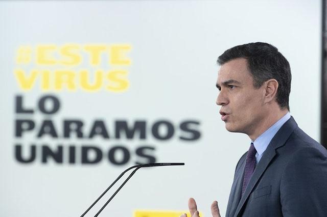 Pedro Sánchez efterlyser ett slut på den politiska konfrontationen, för att bekämpa coronasmittan tillsammans.