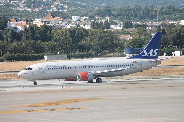 SAS-flyg på Málaga flygplats. ARKIVBILD