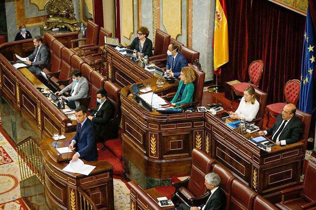 Den femte förlängningen av larmsituationen, till och med 6 juni, antogs 20 maj i riksparlamentet. Foto: PSOE