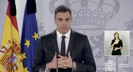 Pedro Sánchez framträdde denna gång på söndagen, klädd i svart och med annonseringen att en ny förlängning av larmsituationen också ska bli den sista.