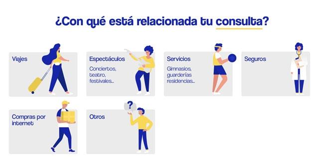 Konsumentverkets hjälpsida med anledning av coronakrisen är tyvärr endast på spanska.