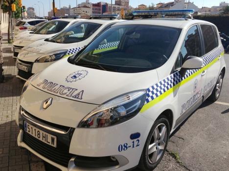 Polisbilar i Málaga.