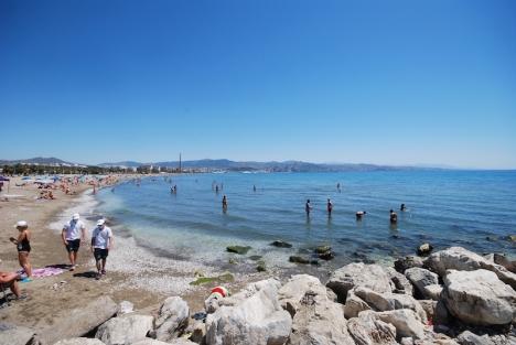 Många stränder i Málagaprovinsen fick stoppa tillströmningen av besökare på söndagen, bland annat i Málaga stad.