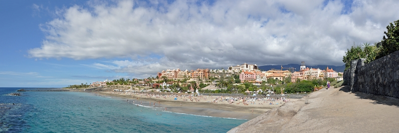 Playa El Duque, på Tenerife.