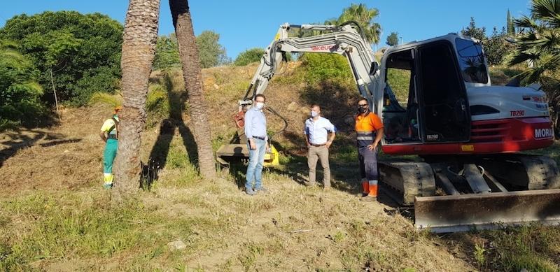 Kommunen har inlett arbetet med att förvandla 13 hektar vid El Pinar de Nagüeles till botanisk trädgård.