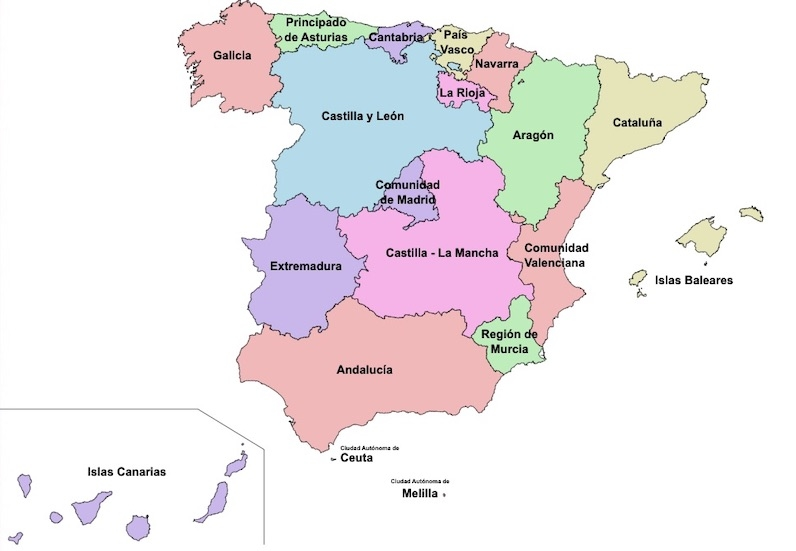 Det finns just nu 123 pågående smitthärdar i Spanien och samtliga regioner i landet är drabbade.