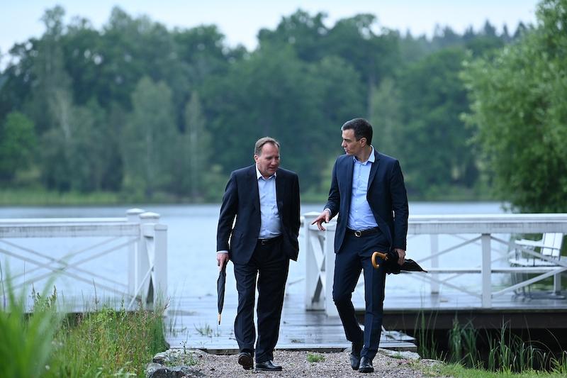 Trots personligt möte på Harpsund lyckades Pedro Sánchez och Stefan Löfven ej nå ett gemensamt ställningstagande i frågan om EU:s krispaket.