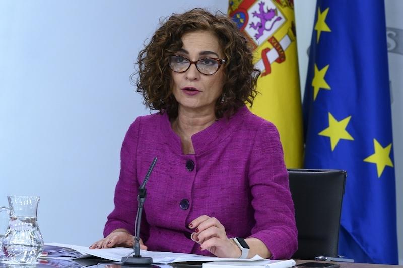 Skatteministern María Jesús Montero.