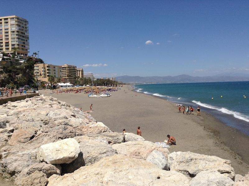 Playa La Carihula i Torremolinos.