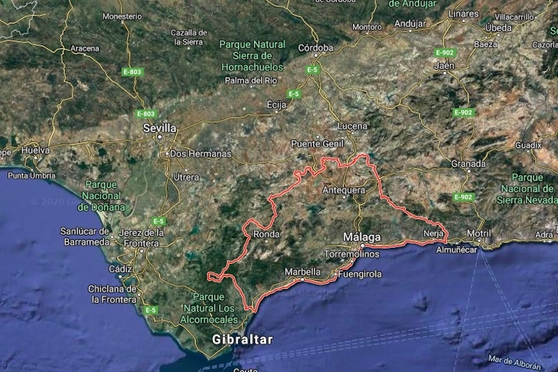 Málagaprovinsen har i dagsläget inga patienter med Covid-19 på intensivvårdsavdelning. Foto: Google maps