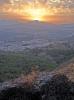 Solnedgång över Pizarra och Sierra de las Nieves.