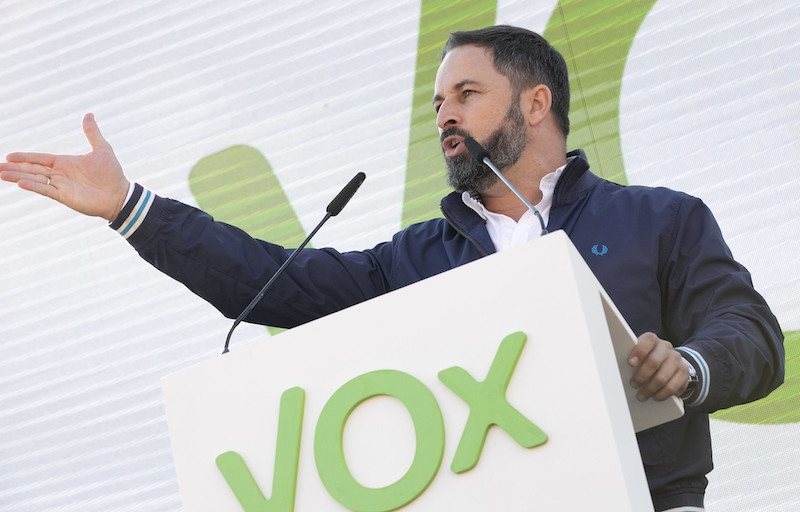 Santiago Abascal, ledare för Vox i Spanien.