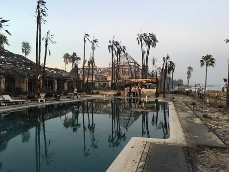 Branden totalförstörde nöjescentret Laguna Village. Foto: Ayto de Estepona.