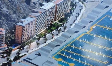 Så här kommer Almuñécars hamn att se ut, om den går igenom de sista stegen i processen. Bygget uppskattas kunna börja inom några månader och sedan ta två år att färdigställa. Foto: Ayuntamiento de Almuñécar