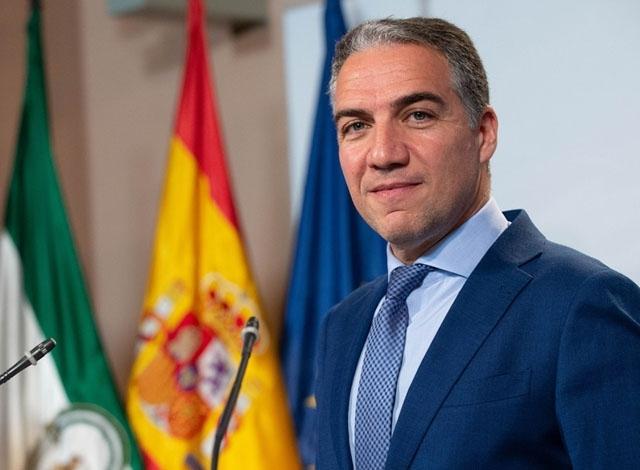 Presidentrådet Elías Bendodo är själv från Málagaprovinsen, där han varit ordförande i provinsstyrelsen. Foto: Junta de Andalucía
