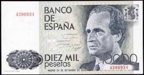 En 10 000-sedel från 1992 är idag värd 60 euro.
