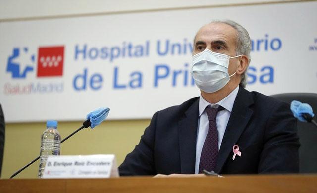 Hälsovårdsrådet i Madrid Enrique Ruiz Escudero. Foto: Comunidad de Madrid