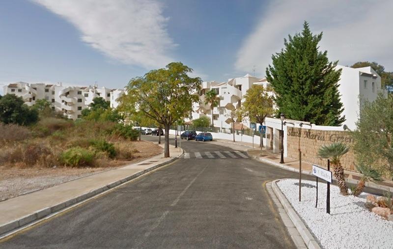 Santa María Green Hill byggdes under byggboomen på Costa del Sol och är ett illegalt bygge utan inflyttningslicens. Foto: Google Maps