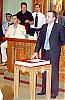 Interimsstyrelsens ordförande Diego Martín Reyes (PSOE) svär ämbetseden.