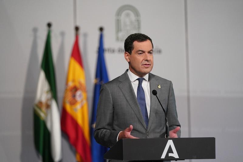 Andalusiens regionalpresident har i en radiointervju meddelat att han stänger Andalusiens gränser inför Allhelgonahelgen. Foto: Junta de Andalucía