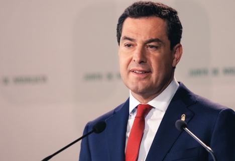 """""""Vi står inför det största hotet mot folkhälsan på ett sekel, om det fortfarande finns några som inte förstått detta"""", betonar den andalusiske regionalpresidenten Juanma Moreno Bonilla."""
