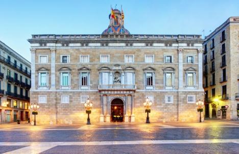 Den katalanska regeringsbyggnaden i Barcelona.