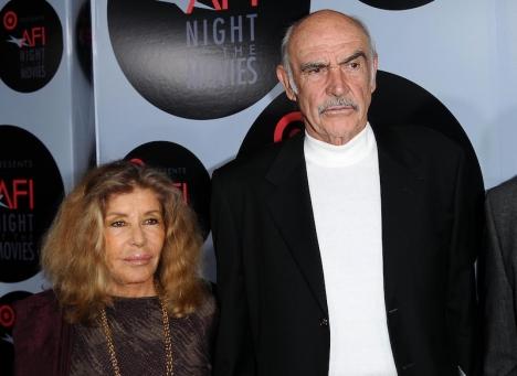 Sean Connery med sin hustru Michelline Roquebrune.