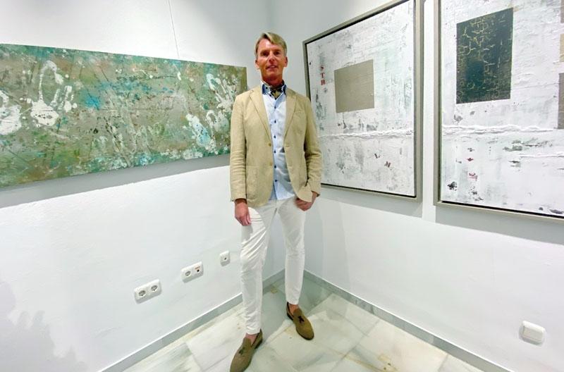 Kjell Sporrong är fastboende i Estepona och efter ett flertal utställningar på kusten fick han han nu ställa ut på hemmaplan.